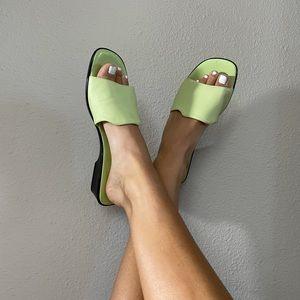 Vintage Talbots pastel green sliders slip ons Y2K